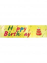 Striscione Happy Birthday multicolor