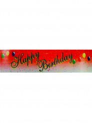 Striscione Happy Birthday rosso