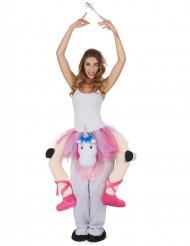 Costume da ballerina su un unicorno per adulto