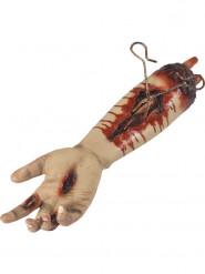Braccio sanguinante con ferite animata halloween 45 cm