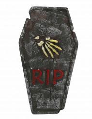 Decorazione pietra tombale con mano scheletrica