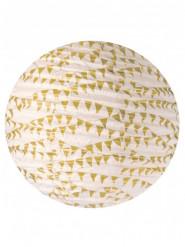 Lanterna in carta di lokta con bandierine dorate