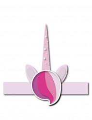 6 coroncine unicorno rosa