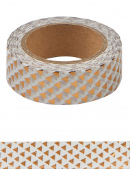 Washi tape con triangoli oro rosa