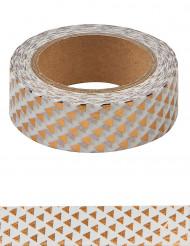 Washi tape con triangoli oro rosa