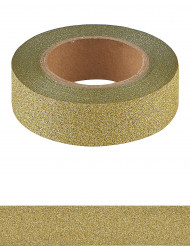 Washi tape dorato con brillantini