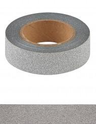 Washi tape glitter argentato