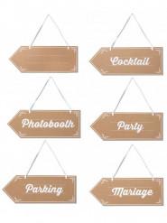 6 frecce segnaletiche per matrimonio