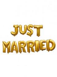 Palloncini di alluminio oro Just Married