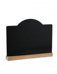 Lavagnetta per la tavola con supporto in legno