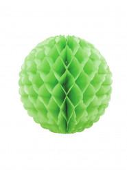 Sfera alveolata in carta verde 25 cm
