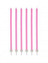 16 candeline di compleanno lunghe rosa scuro