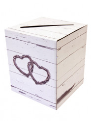 Urna in cartone con cuori romantica