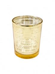 Portacandele in vetro dorato