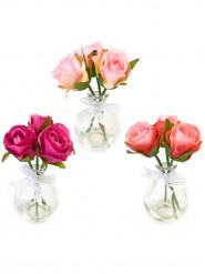 Vasetto con 3 rose