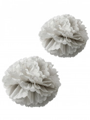 2 pon pon in carta velina grigi 40 e 50 cm