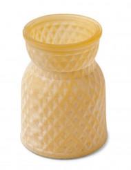 Vaso di vetro giallo