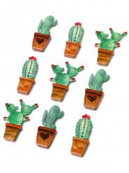 9 Adesivi in carta cactus