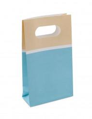 6 sacchetti di carta sorbetto celeste