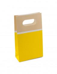 6 sacchetti di carta sorbetto giallo limone