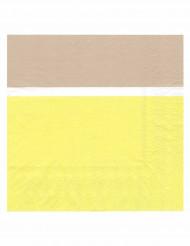20 tovaglioli di carta giallo limone e beige