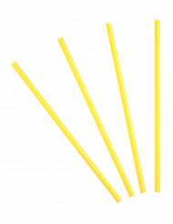 20 cannucce di cartone gialle
