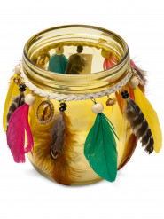 Portacandele di vetro gipsy giallo