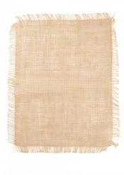 Tovaglietta in tela di juta con frange