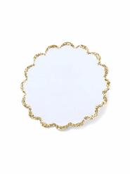 12 etichette adesive bianche e oro