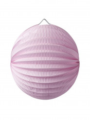 Lanterna a sfera rosa 20 cm