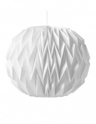 Sfera origami bianca