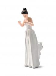 Statuina sposa con capelli neri
