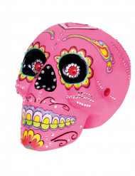 Decorazione teschio rosa con disegni Dia de los muertos