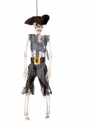 Scheletro da pirata da appendere 40 cm