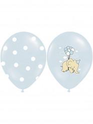 6 palloncini con elefanti celesti