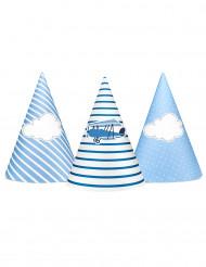 6 cappellini in cartone piccolo aviatore