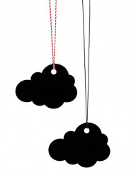 6 Segnaposto nuvola nera