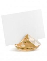 10 segnaposto diamanti oro