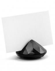 10 segnaposto diamanti neri