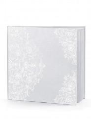 Libro firme bianco con arabeschi