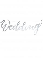 Decorazione Wedding in cartone argento