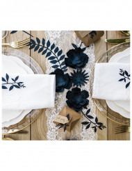 9 decorazioni con foglie blu
