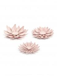 3 fiori rosa in carta 3D