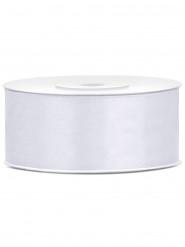 Nastro satinato bianco 25 mm