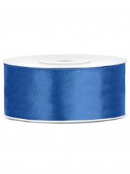 Nastro satinato blu 25 mm