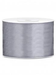 Nastro satinato grigio 5 cm x 25 metri