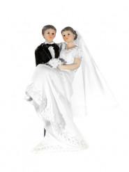 Statuina sposo con sposa in braccio