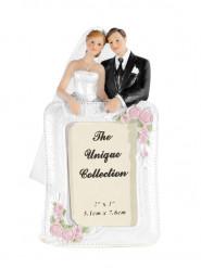 Statuina sposi con cornice fotografica