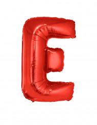 Palloncino alluminio gigante rosso lettera E