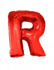 Palloncino alluminio gigante rosso lettera R
